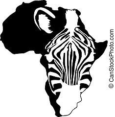 afrika, silhouette, zebra