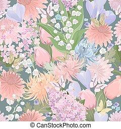 anders, butterflies., seamless, textuur, floral, bloemen