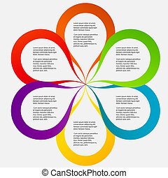anders, concept, vorm, kleurrijke, illustratie zaak, vector, bloem, banieren, circulaire, design.