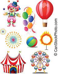 anders, gelul, circus clown, stuffs, spelend
