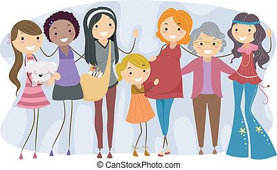 anders, generaties, vrouwen