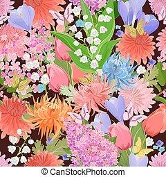 anders, kleurrijke, seamless, textuur, vlinder, bloemen