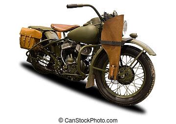 antieke , militair, motorfiets