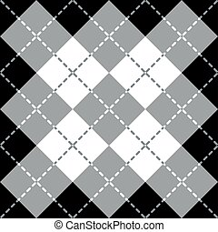 argyle, ontwerp, gray-white-black