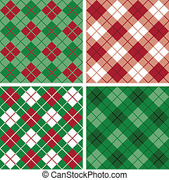 argyle-plaid, red-green, model