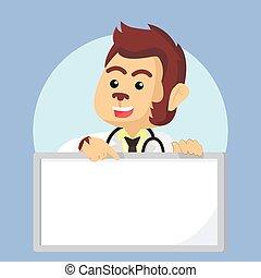arts, aap, vasthouden, meldingsbord
