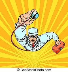 arts, stethoscope, therapist, mannelijke