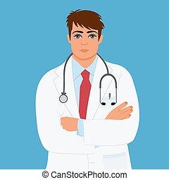 arts, vector, mannelijke , arts