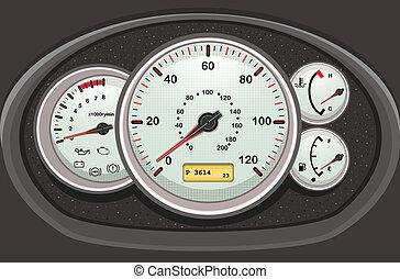 auto, dashboard, dials.