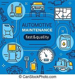 auto dienst, onderhoud, herstelling