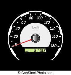 auto, speedometers, het snelen, design.