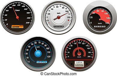 auto, speedometers, set