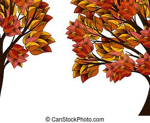 autumn leaves, boompje, gele