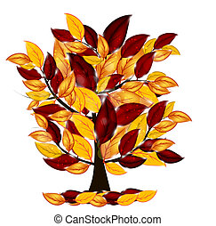 autumn leaves, boompje, kleurrijke