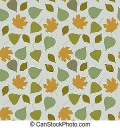 autumn leaves, seamless, achtergrond