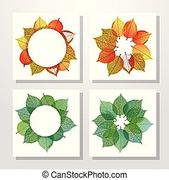 autumn leaves, stylize, achtergrond