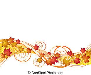 autumn leaves, vliegen, achtergrond