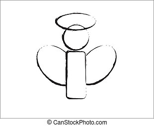 b, ontwerp, w, engel, &