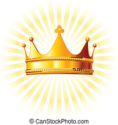 backgroun, gouden kroon, gloeiend