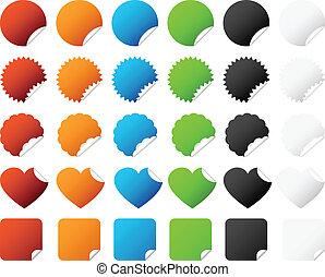 badge, sticker, vector, set