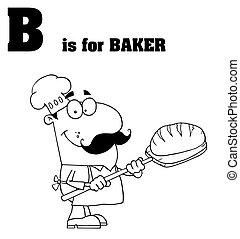 bakker, mannelijke , geschetste