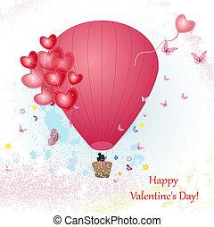 balloon, ontwerp, jouw, dag, valentine