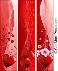 banieren, valentine's dag