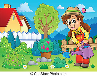 beeld, 2, thema, tuinman