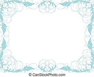 beeld, frame, vector, winter, decoratief