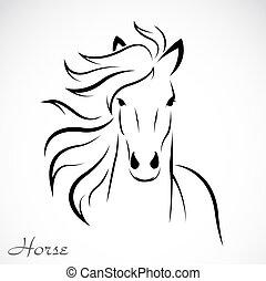 beeld, vector, paarde