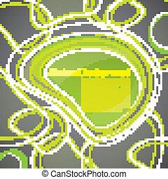 bel, achtergrond, groene samenvatting