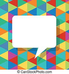 bellen, abstract, toespraak, mal, kleurrijke