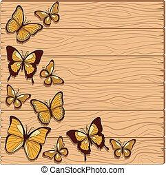 beslag, vlinder, vector, grondslagen, achtergrond