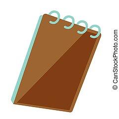 binder, vector, notepad, illustration., ring