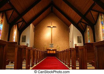 binnen, kerk