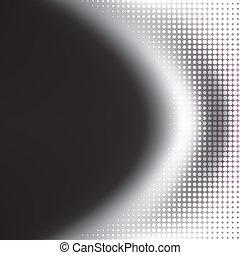 black , halftone, achtergrond, witte