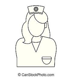 black , verpleegkundige, witte , anoniem, avatar