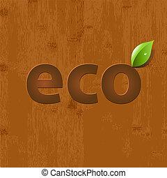 bladeren, hout, achtergrond