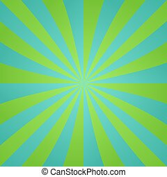 blauw groen, retro, achtergrond, ontwerp, straal