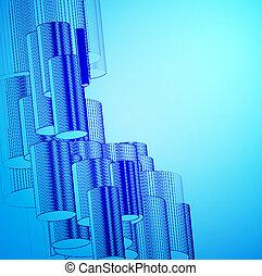 blauwe , abstract, achtergrond, design.