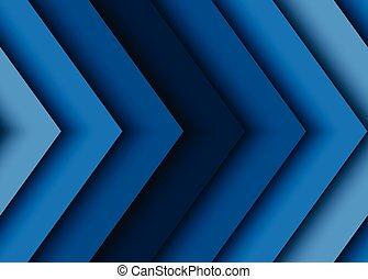 blauwe , abstract, vector, pijl, achtergrond