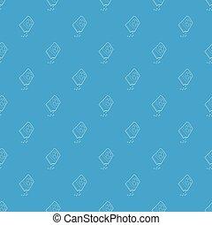 blauwe bloem, model, seamless, zak, vector, zaden
