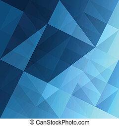 blauwe , eps10, abstract, achtergrond., vector, driehoeken