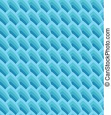 blauwe , geometrisch, seamless, achtergrond, golven