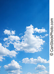 blauwe , heldere hemel, kleurrijke, achtergrond