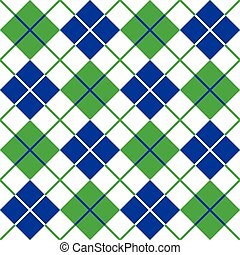 blauwe , model, argyle, groene