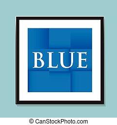 blauwe , papier, ineengevouwen , achtergrond