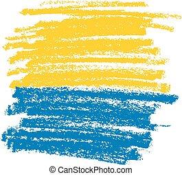 blauwe , potlood, achtergrond, gele, textuur