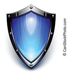 blauwe , veiligheid, schild
