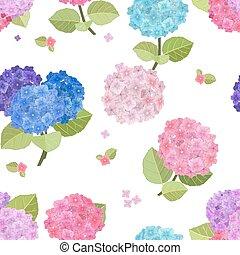bloemen, seamless, beauty, textuur